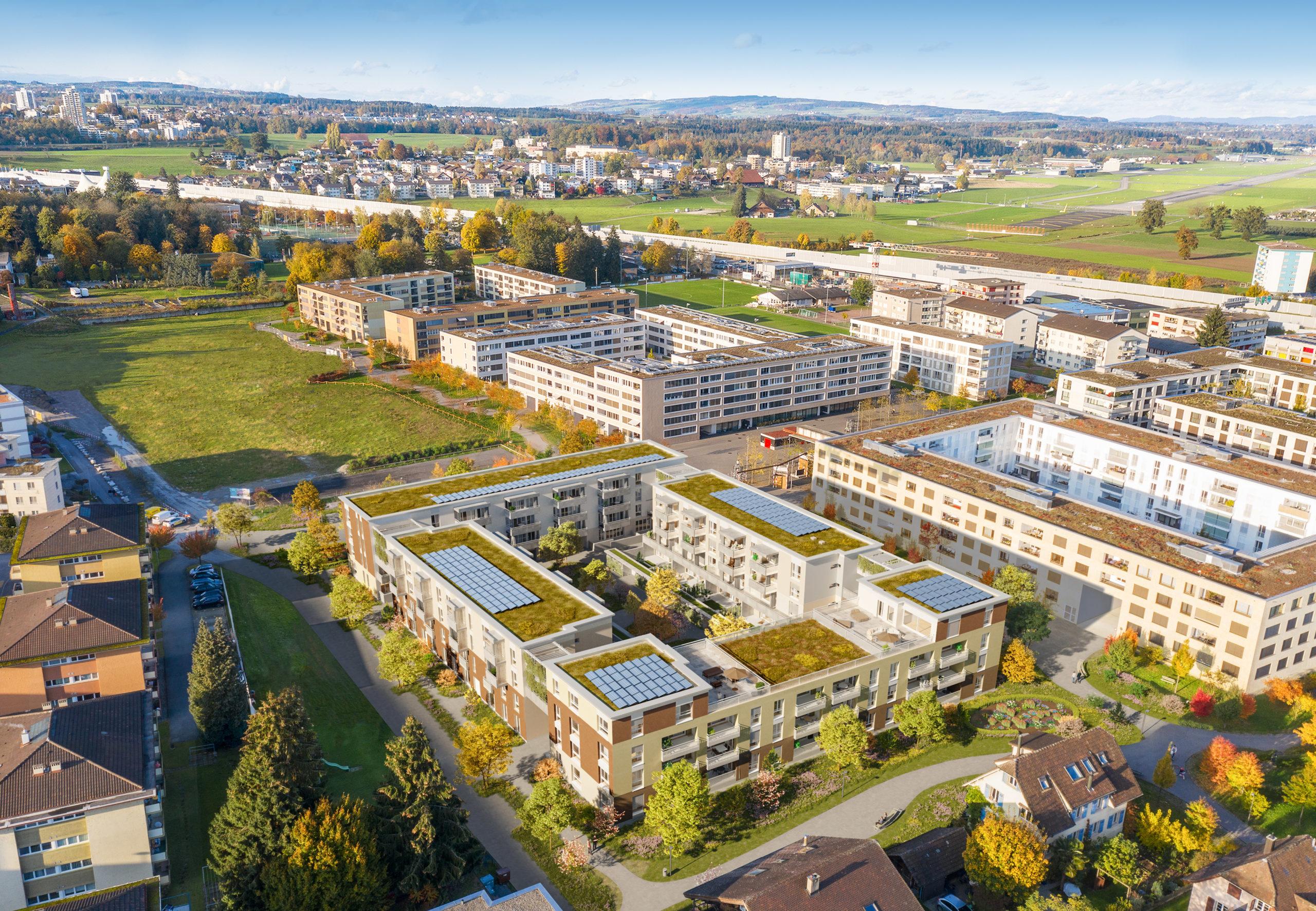 Aussenvisualisierung Vogelperspektive scaled Advendis Immobilien-Kompetenz aus einer Hand